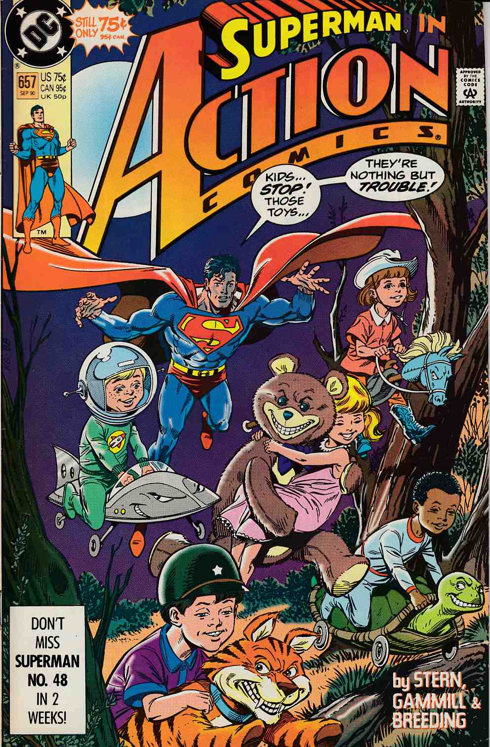 Action Comics #657 Fine (6.0) [DC Comic] LARGE