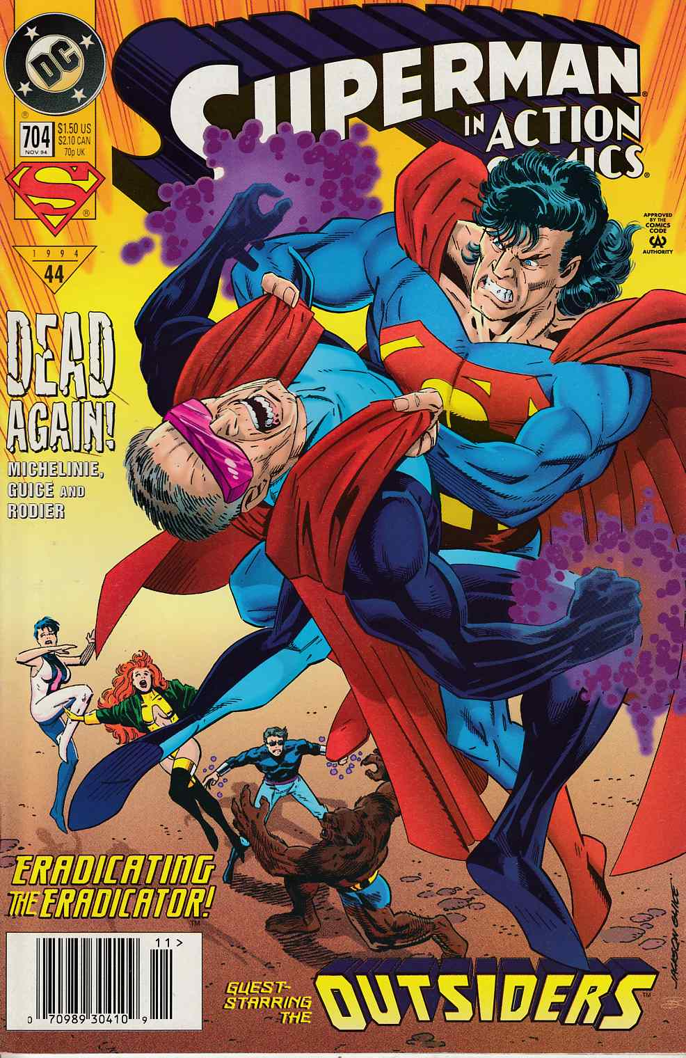 Action Comics #704 Newsstand Edition Near Mint (9.4) [DC Comic] LARGE