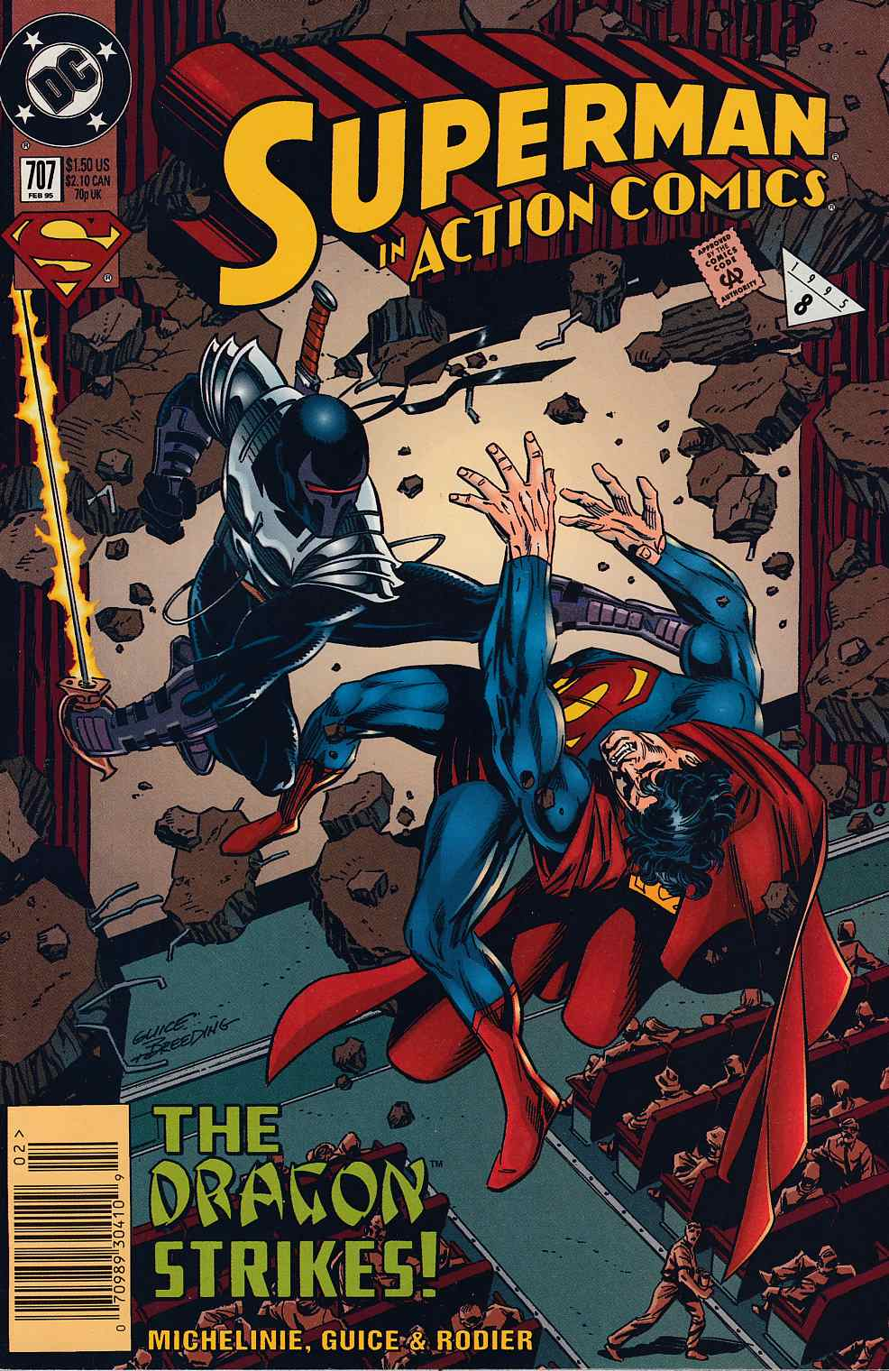 Action Comics #707 Newsstand Edition Very Fine Minus (7.5) [DC Comic] LARGE