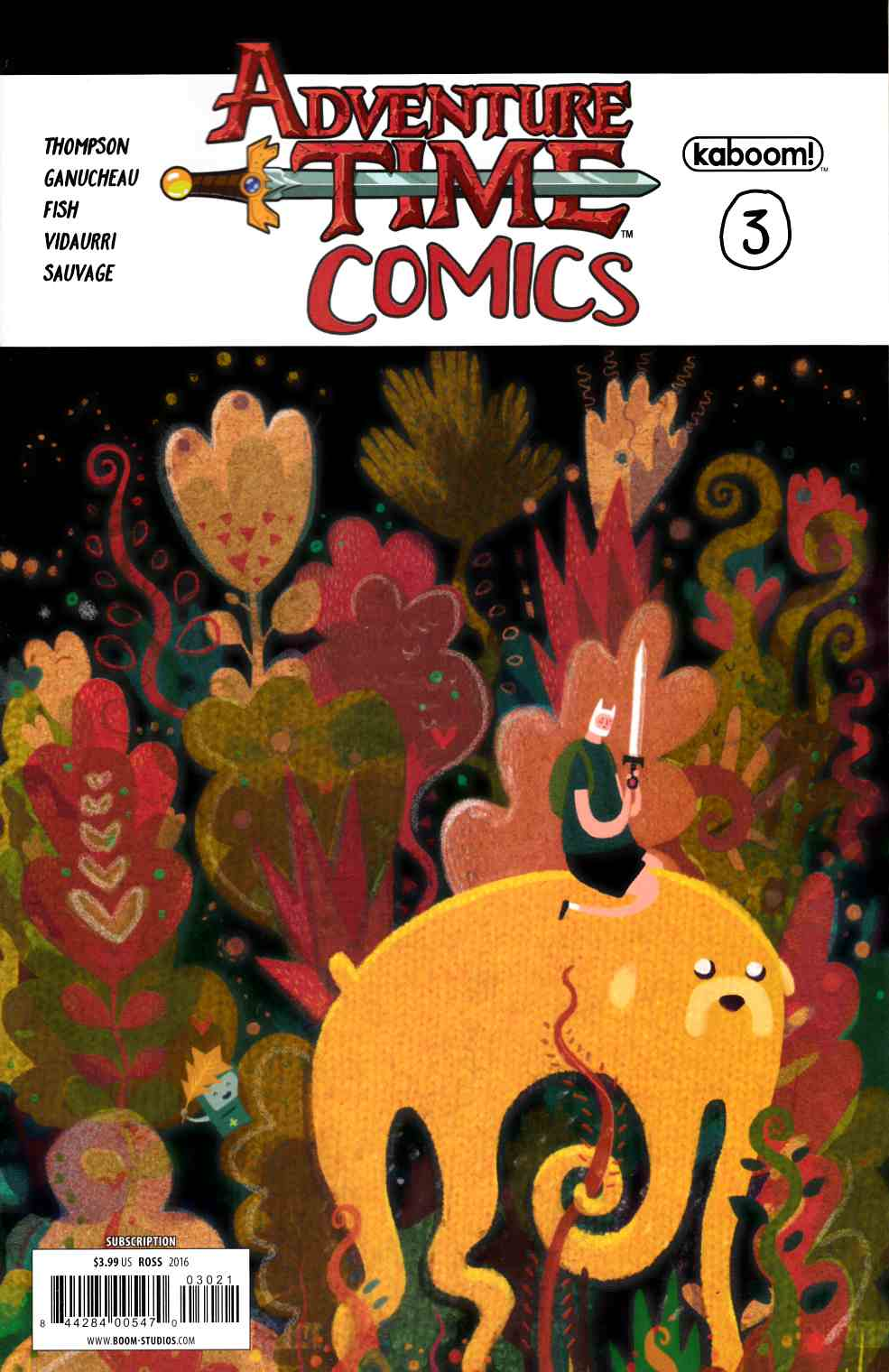 Adventure Time Comics #3 Subscription Cover [Boom Comic] THUMBNAIL