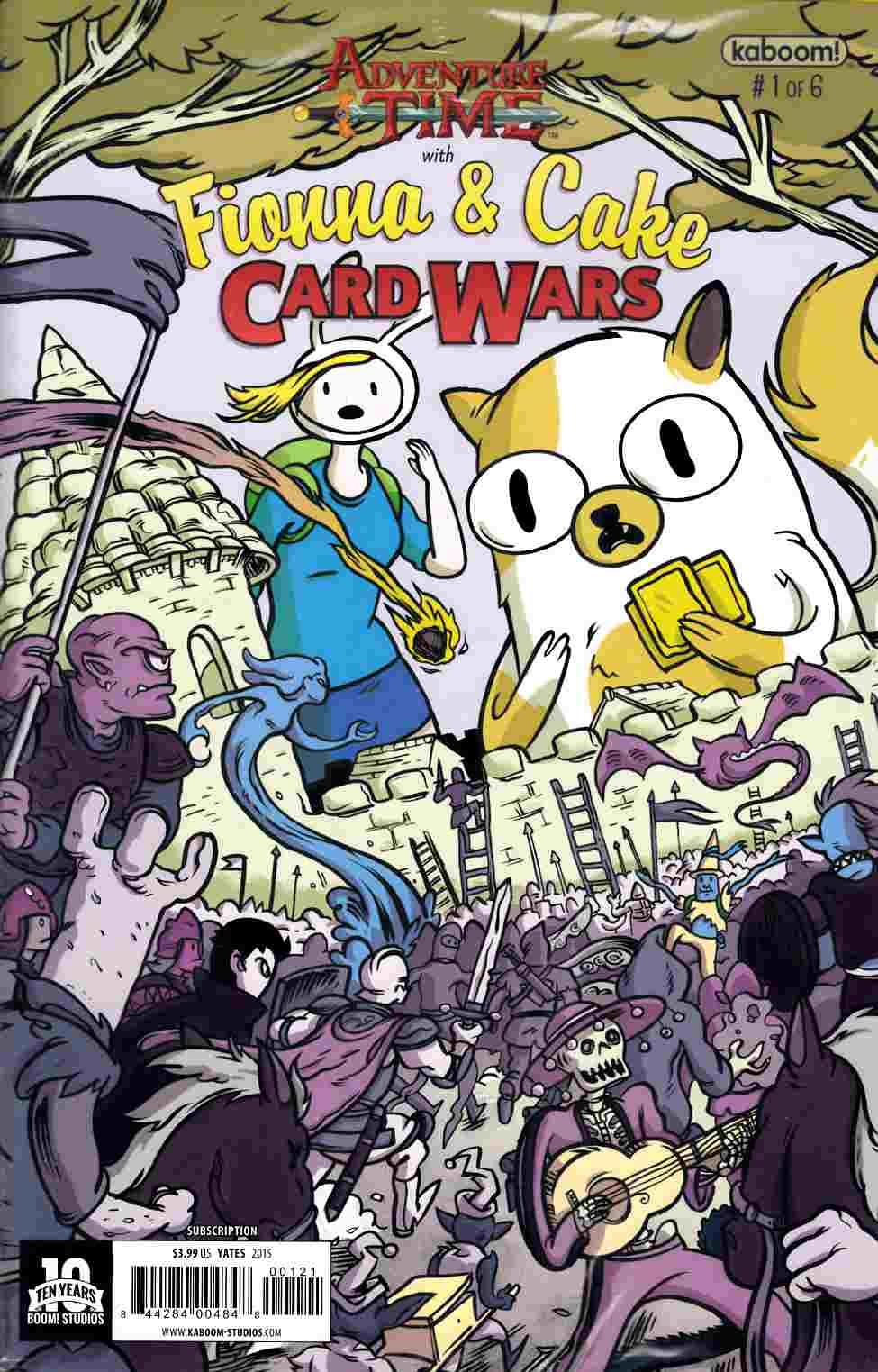 Adventure Time Fionna & Cake Card Wars #1 Subscription Cover [Boom Comic] LARGE