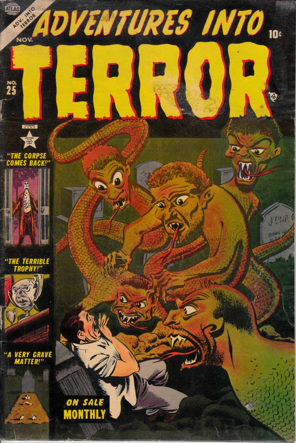 Adventures Into Terror #25 Good Plus (2.5) [Atlas Comic] LARGE