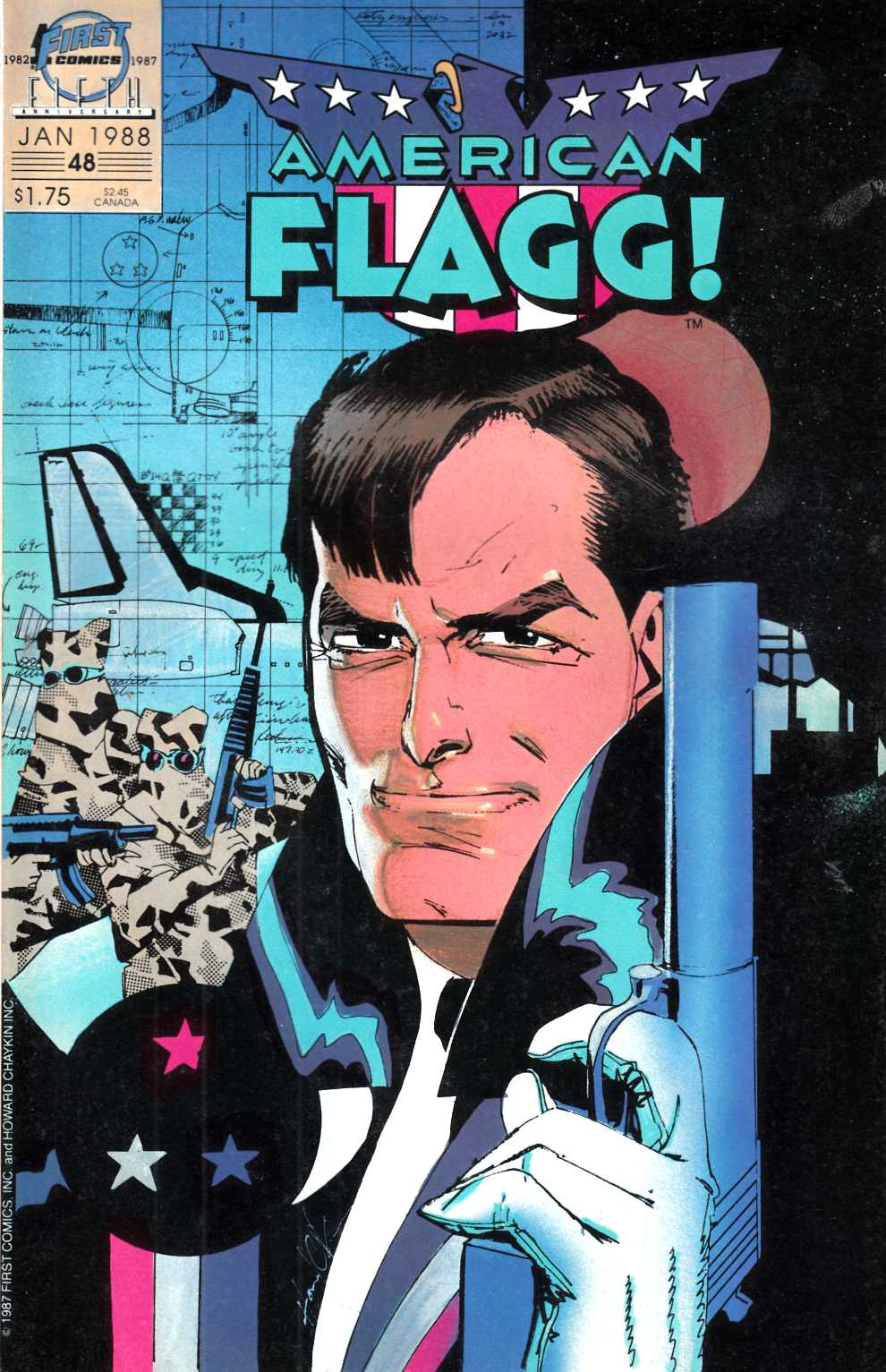 American Flagg #48 Near Mint (9.4) [First Comic] THUMBNAIL