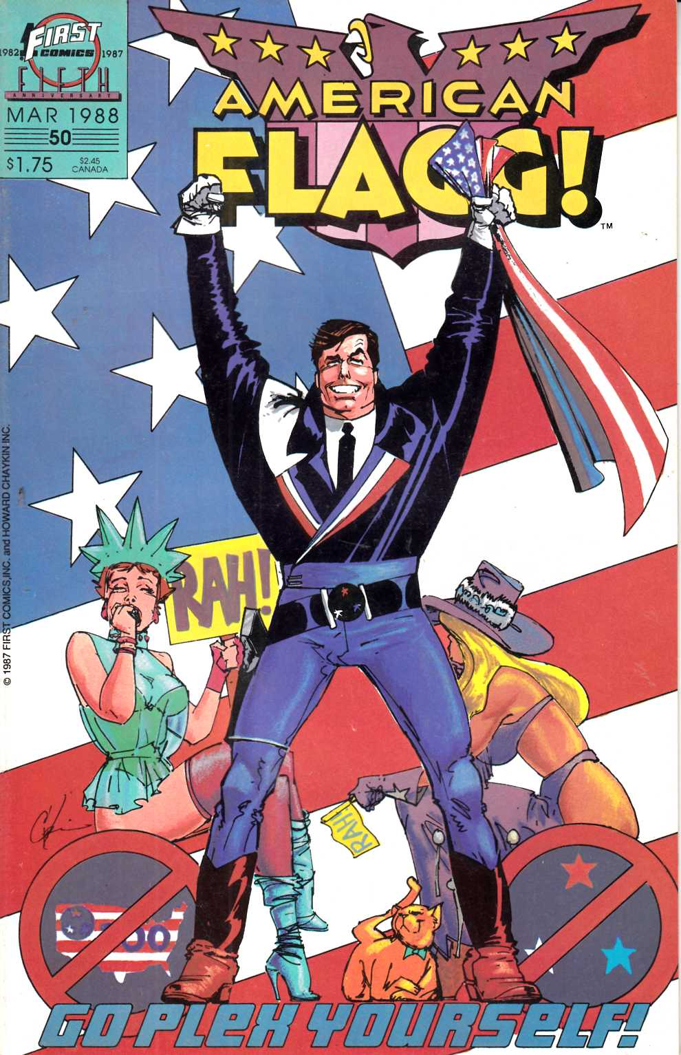 American Flagg #50 Near Mint (9.4) [First Comic] THUMBNAIL