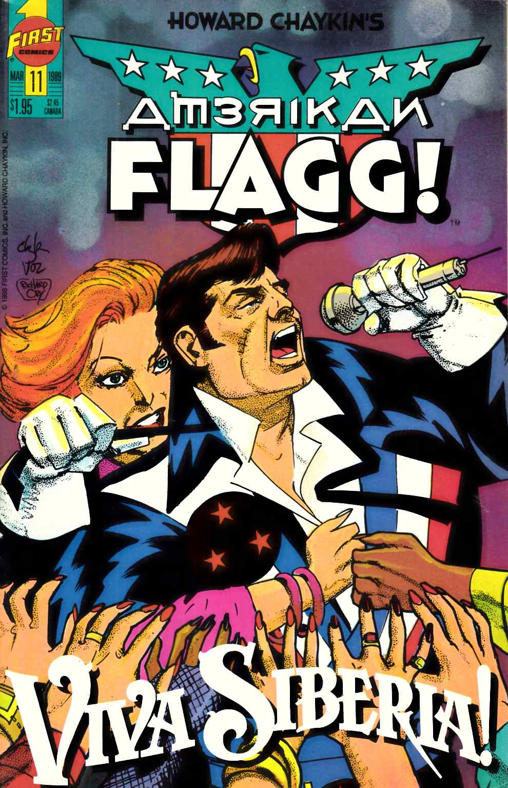 American Flagg #11 Very Fine (8.0) [First Comic] THUMBNAIL