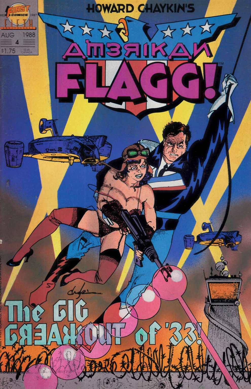American Flagg #4 Very Fine Minus (7.5) [First Comic] THUMBNAIL