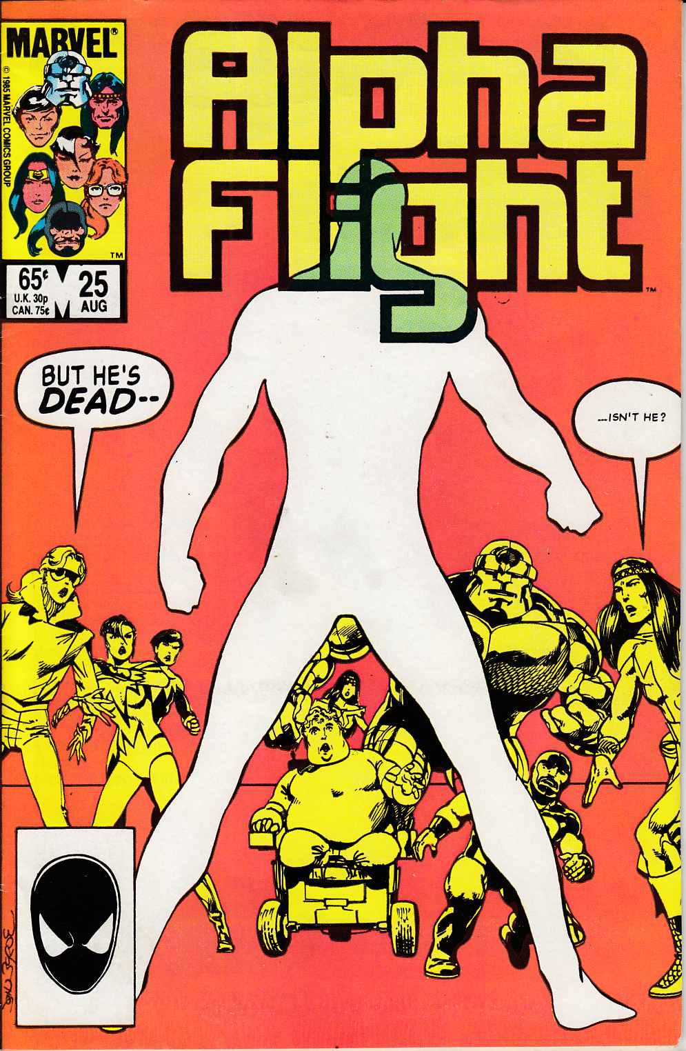 Alpha Flight #25 Fine (6.0) [Marvel Comic] LARGE