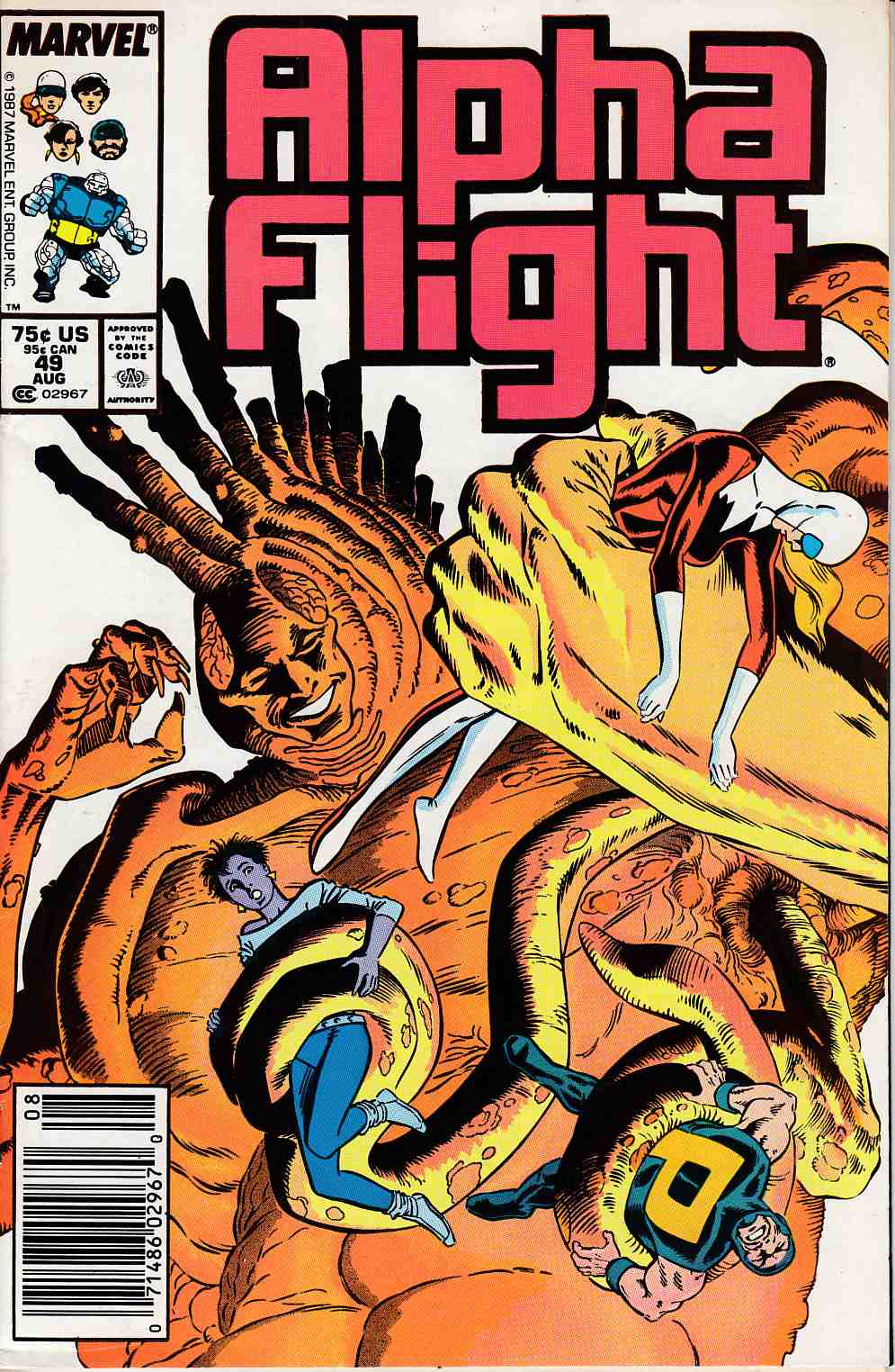 Alpha Flight #49 Newsstand Edition Very Fine Minus (7.5) [Marvel Comic] LARGE