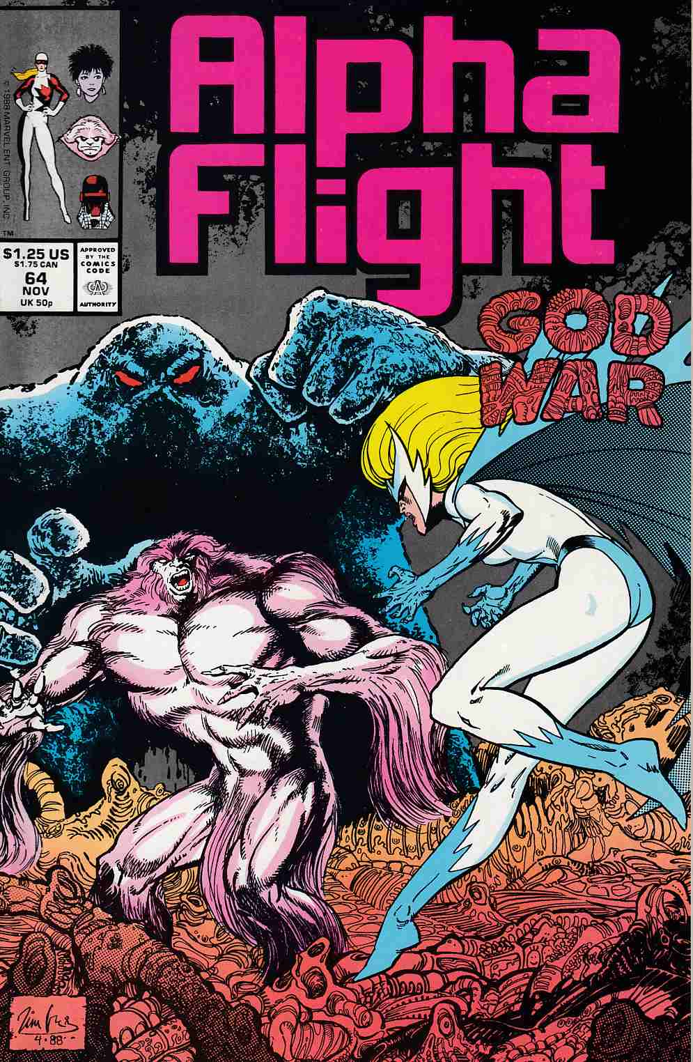Alpha Flight #64 Very Fine (8.0) [Marvel Comic] LARGE