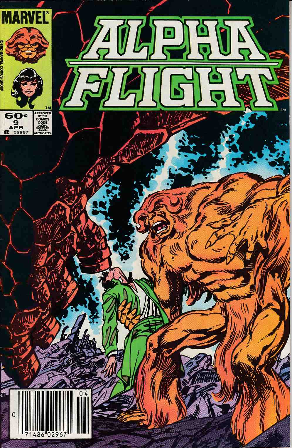 Alpha Flight #9 Mark Jewelers Variant Very Fine Minus (7.5) [Marvel Comic] LARGE