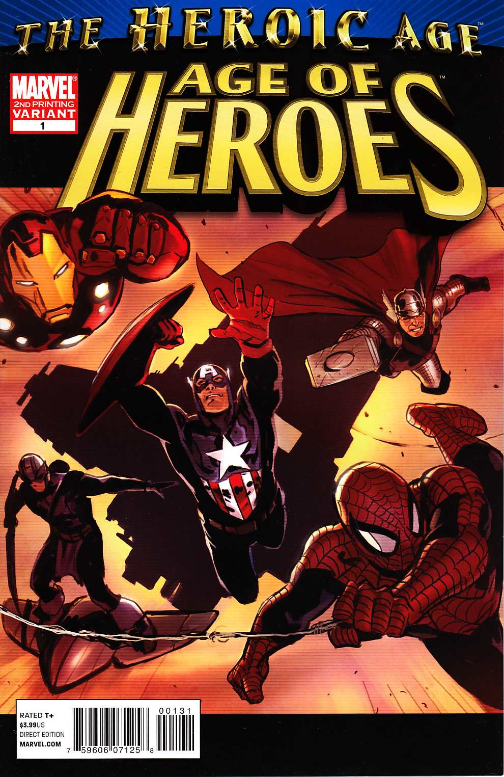 Age Of Heroes #1 Second Printing [Marvel Comic] THUMBNAIL
