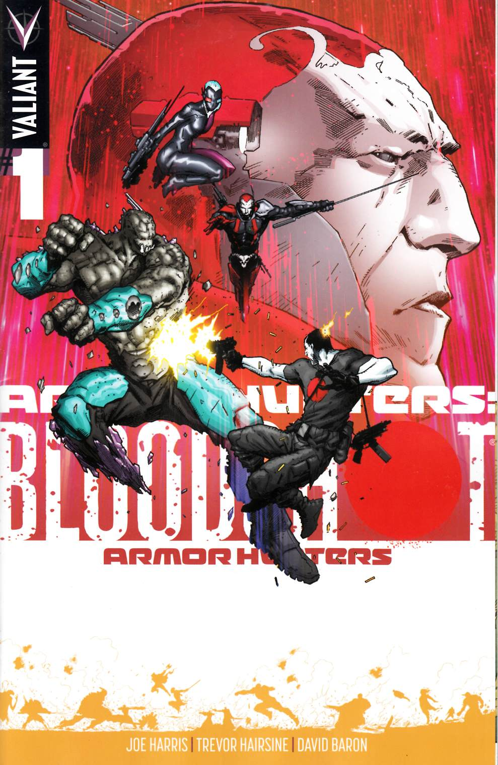 Armor Hunters Bloodshot #1 Hairsine Variant Cover [Comic] THUMBNAIL
