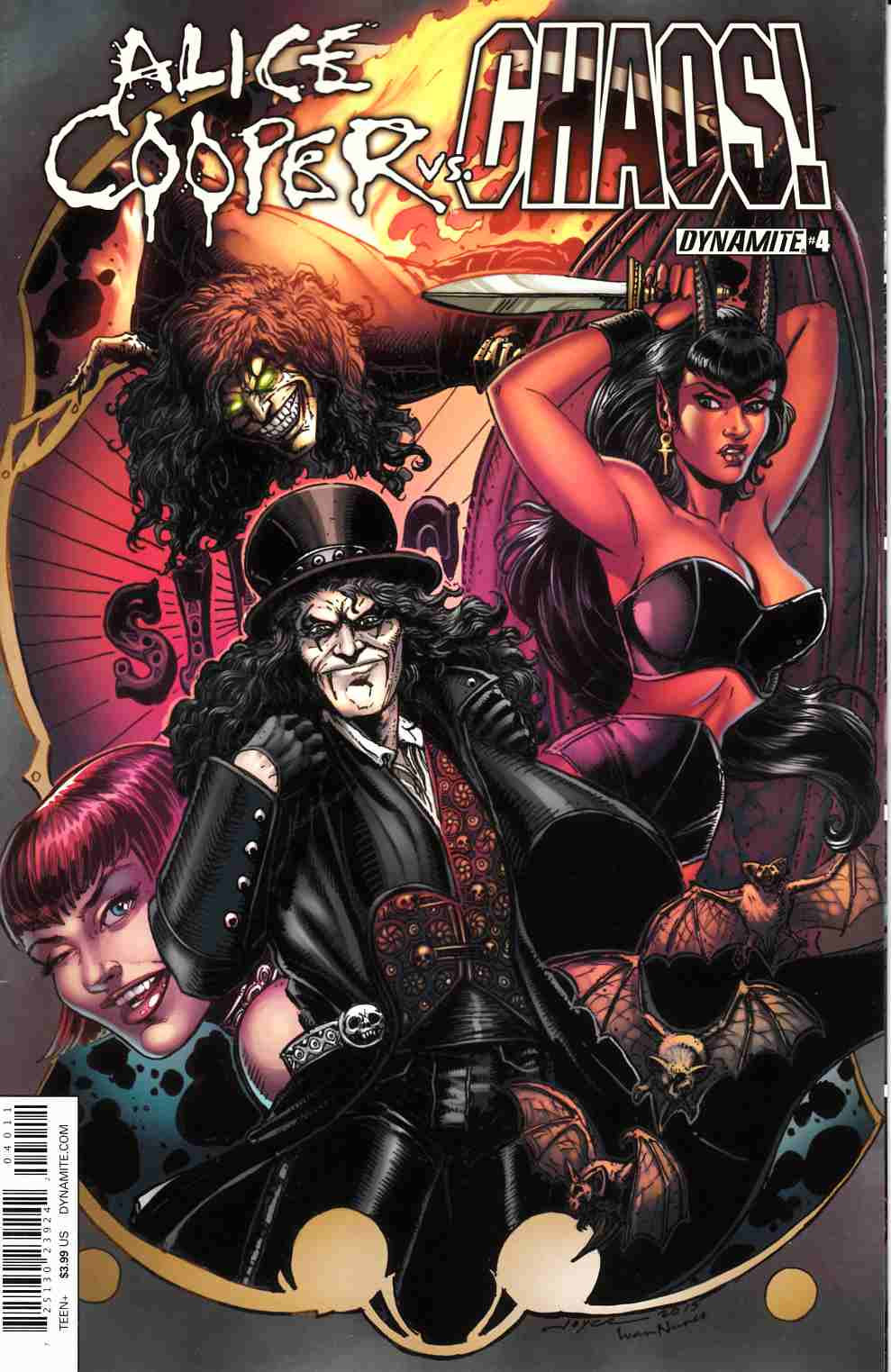 Alice Cooper vs Chaos #4 Cover A- Chin [Dynamite Comic] LARGE