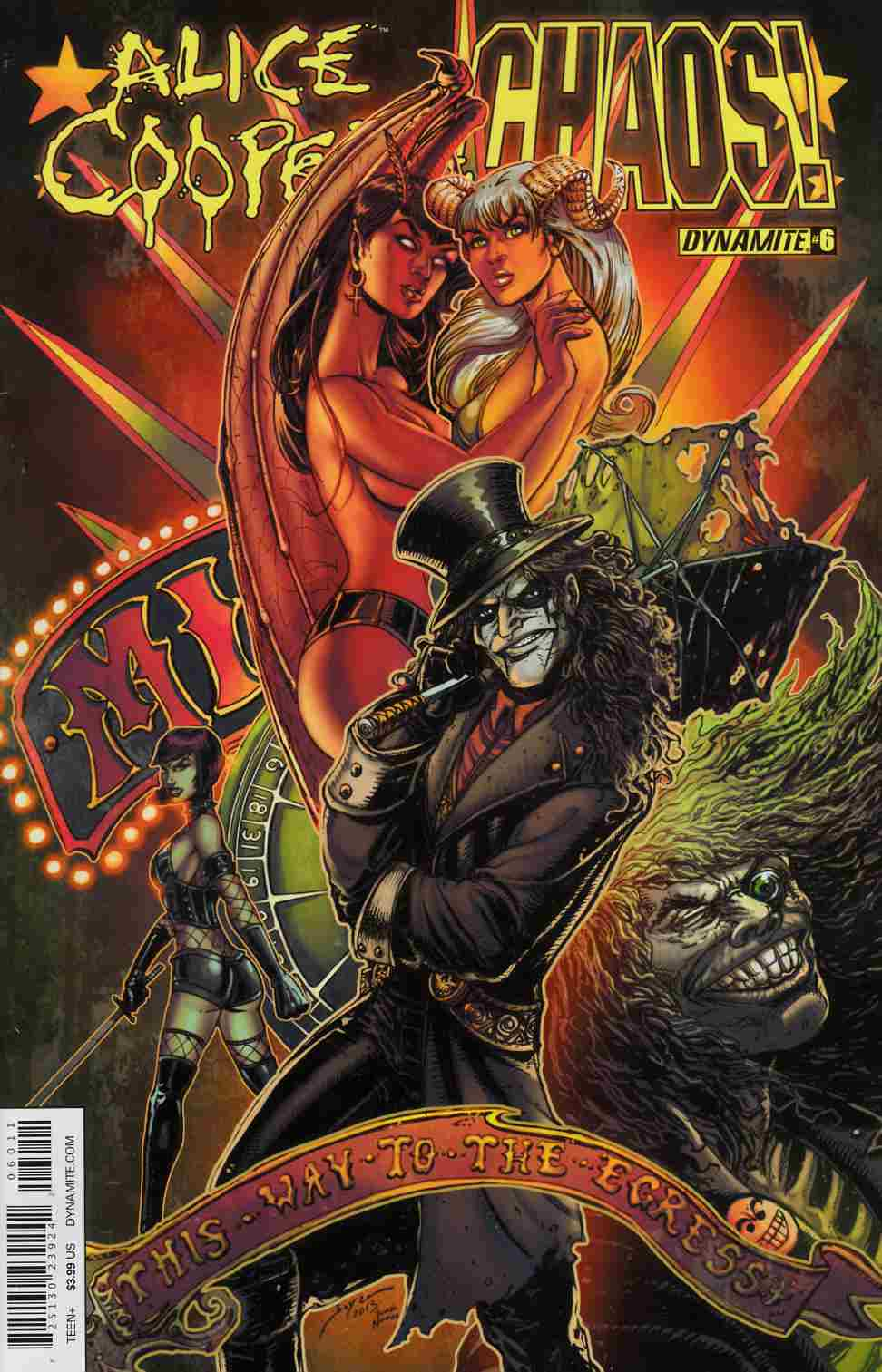 Alice Cooper vs Chaos #6 Cover A- Chin [Dynamite Comic] LARGE