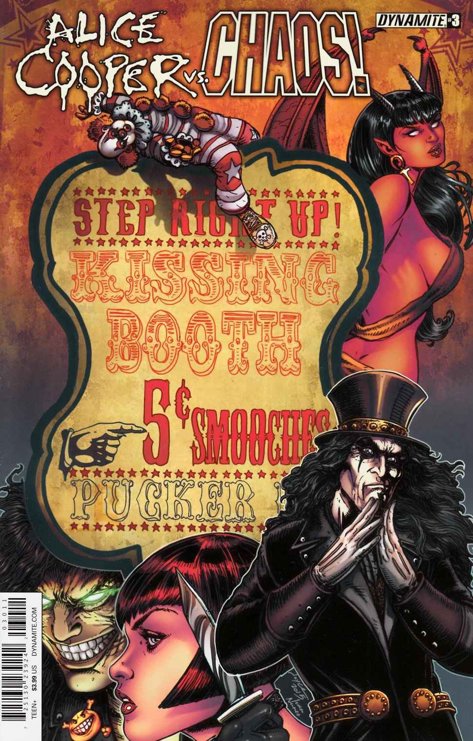 Alice Cooper Vs Chaos #3 Cover A- Chin LARGE