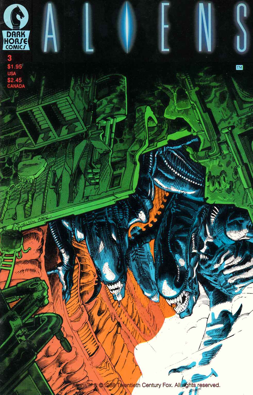 Aliens #3 Very Fine (8.0) [Dark Horse Comic]_THUMBNAIL