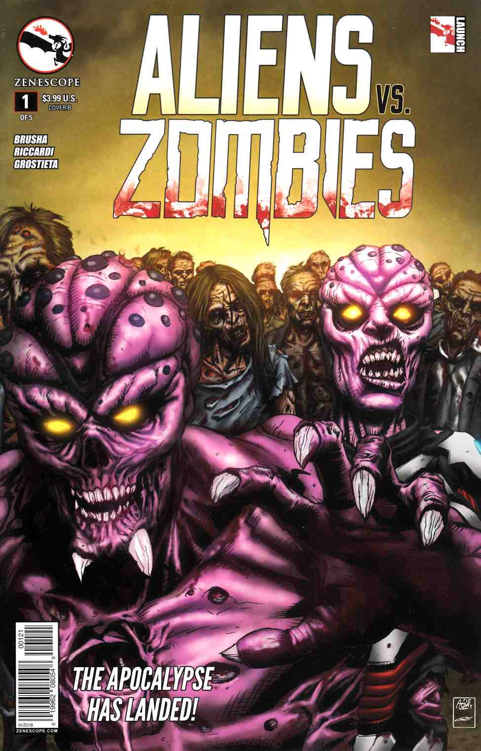 Aliens vs Zombies #1 Cover B- Spay [Zenescope Comic] THUMBNAIL