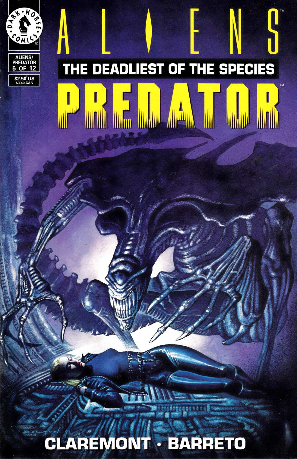 Aliens Predator the Deadliest of the Species #5 Very Fine (8.0) [Dark Horse Comic] THUMBNAIL