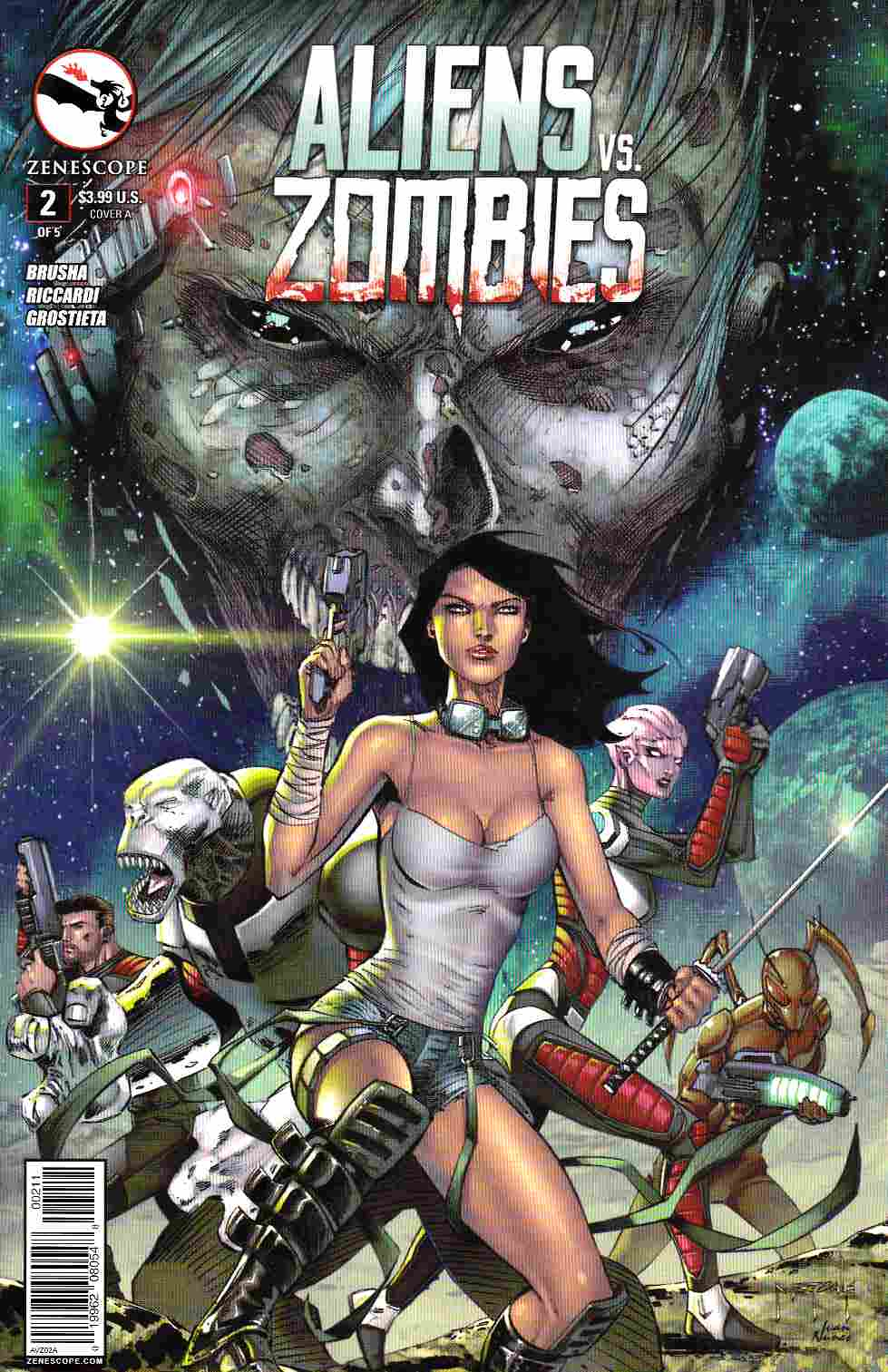 Aliens vs Zombies #2 Cover A- Metcalf [Zenescope Comic] THUMBNAIL