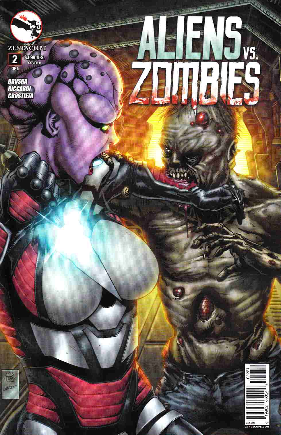Aliens vs Zombies #2 Cover B- Spay [Zenescope Comic] THUMBNAIL
