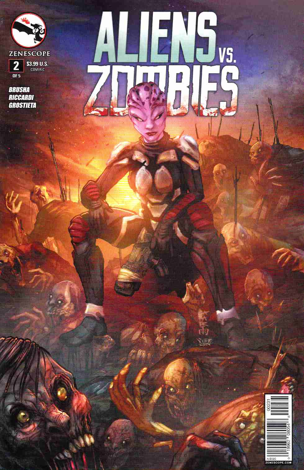 Aliens vs Zombies #2 Cover C- Cafaro [Zenescope Comic] THUMBNAIL