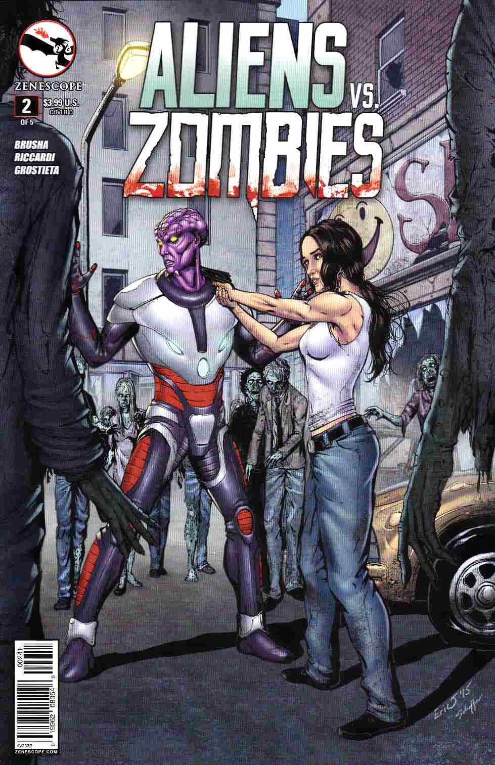 Aliens vs Zombies #2 Cover D- Eric J [Zenescope Comic] THUMBNAIL
