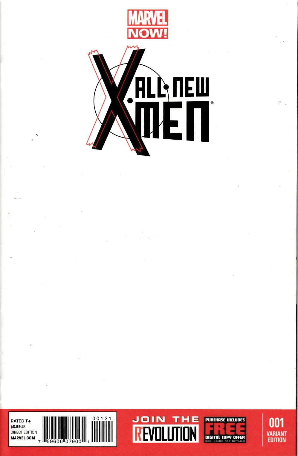 All New X-Men #1 Blank Cover Near Mint (9.4) [Marvel Comic] THUMBNAIL