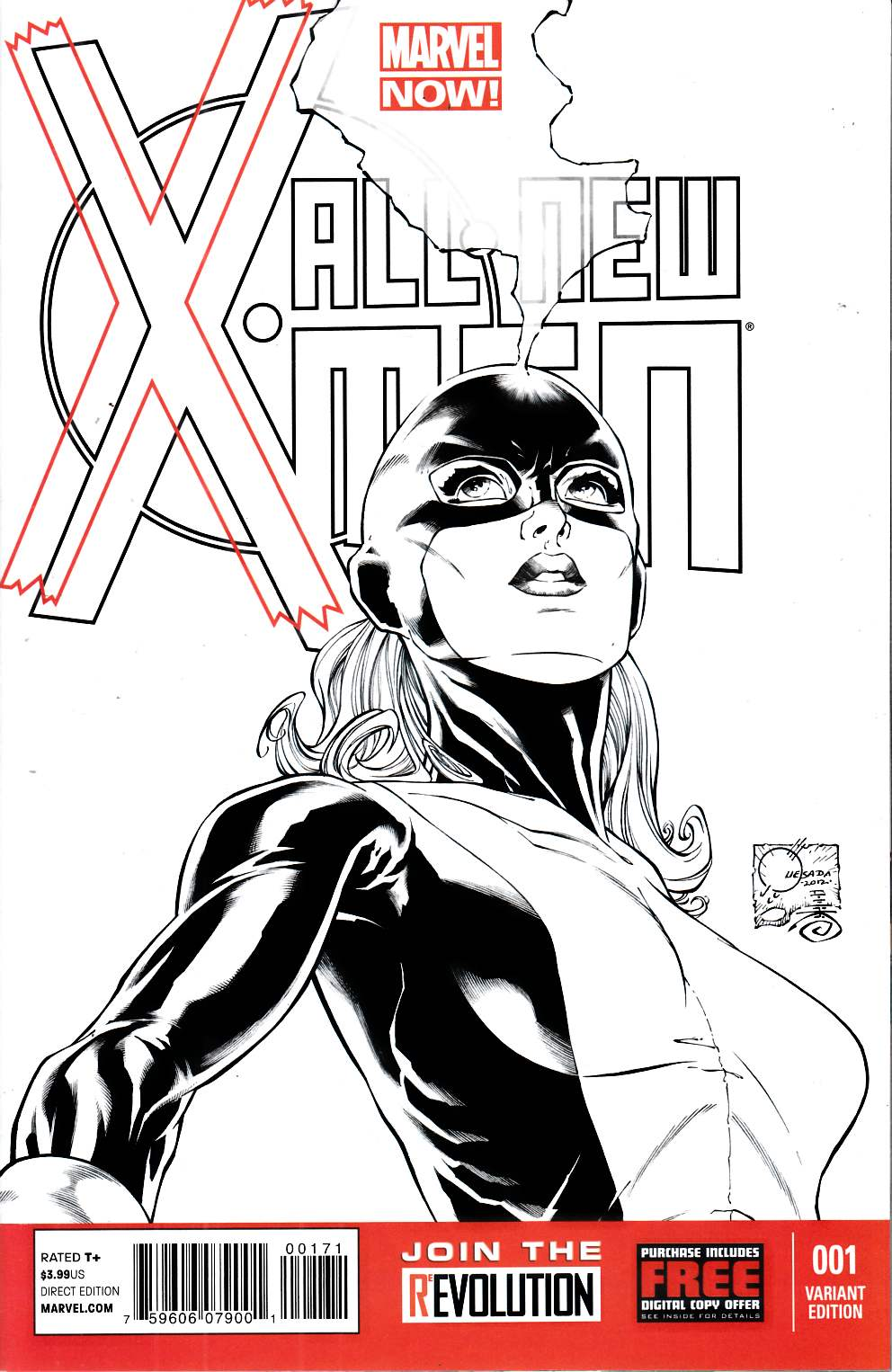 All New X-Men #1 Quesada Sketch Variant Cover Very Fine (8.0) [Marvel Comic] THUMBNAIL