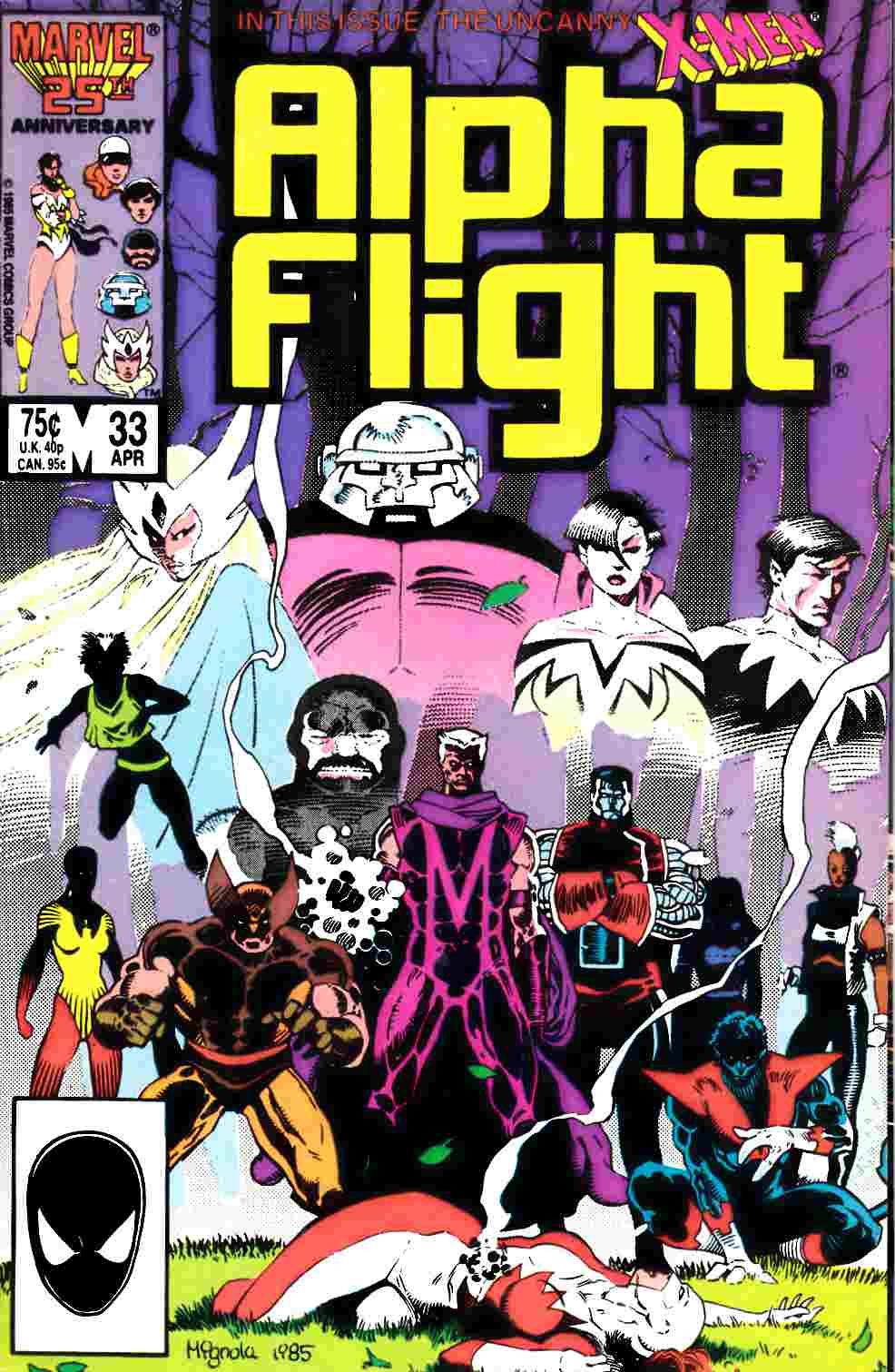 Alpha Flight #33 Very Fine (8.0) [Marvel Comic] LARGE