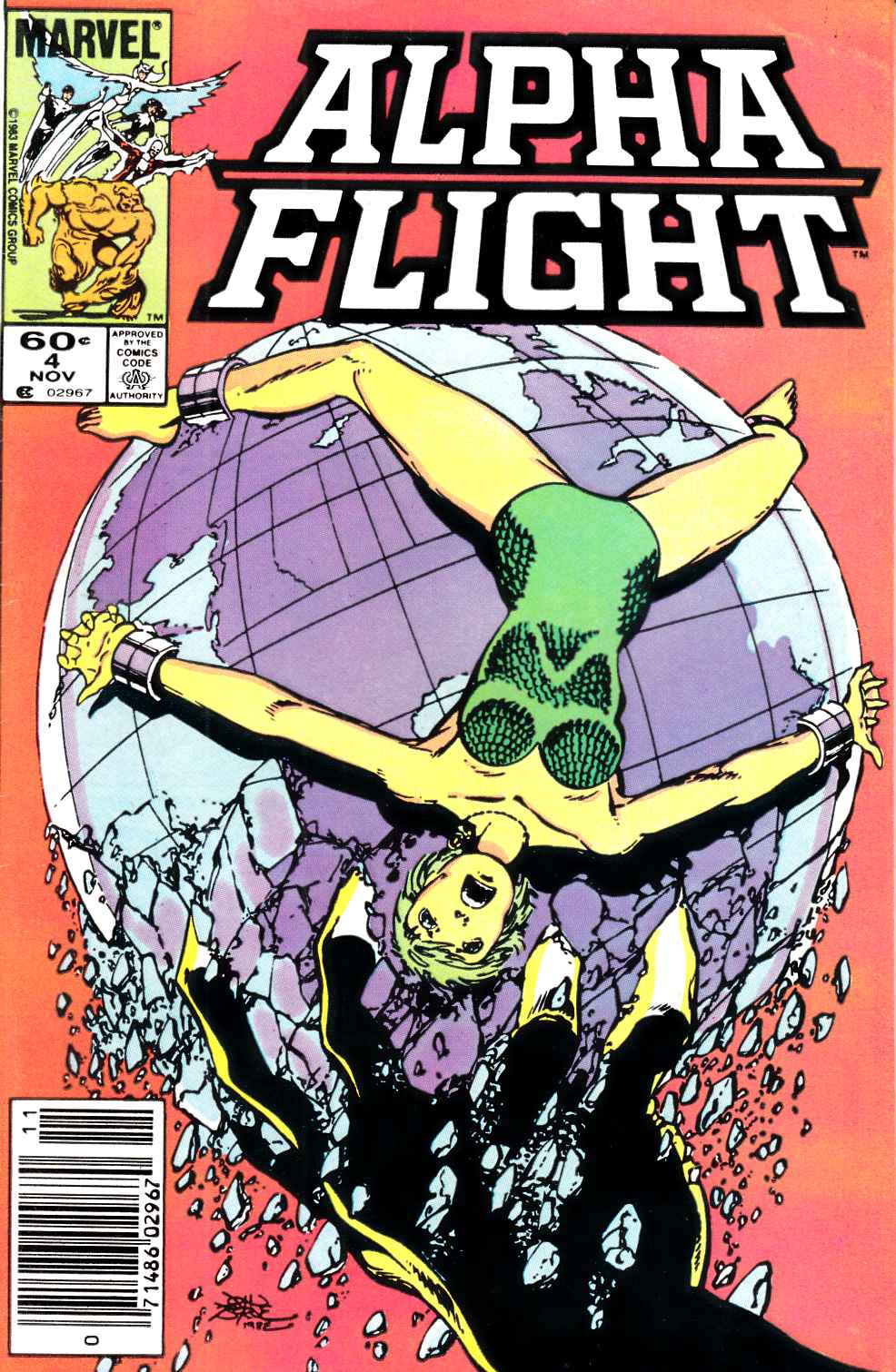 Alpha Flight #4 Newsstand Edition Very Fine (8.0) [Marvel Comic] THUMBNAIL
