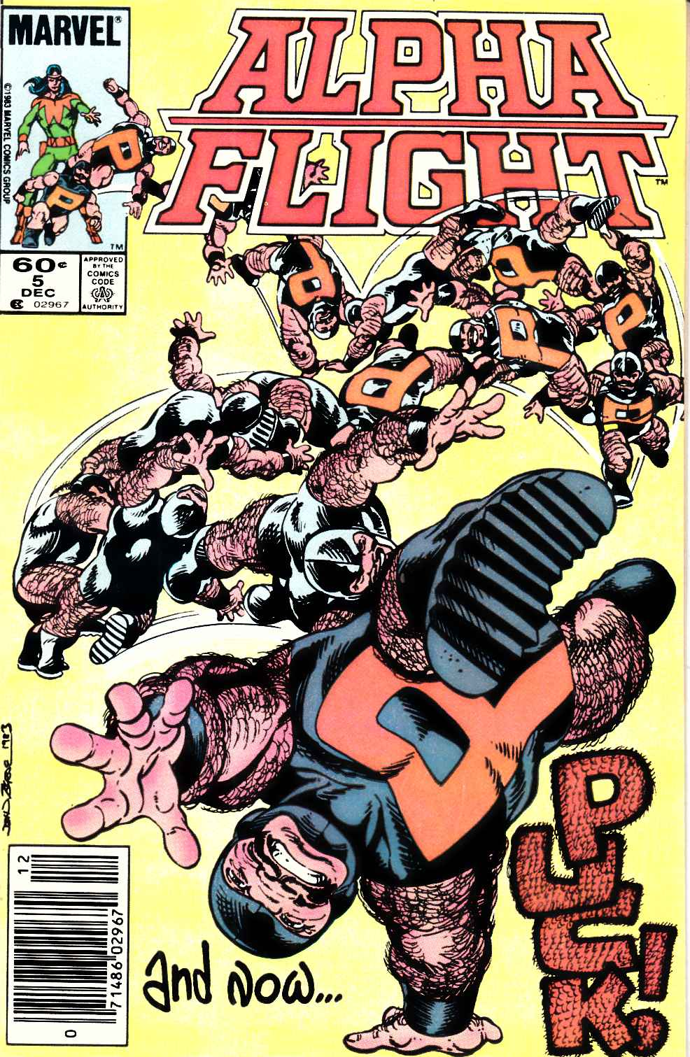 Alpha Flight #5 Newsstand Edition Very Fine (8.0) [Marvel Comic] THUMBNAIL