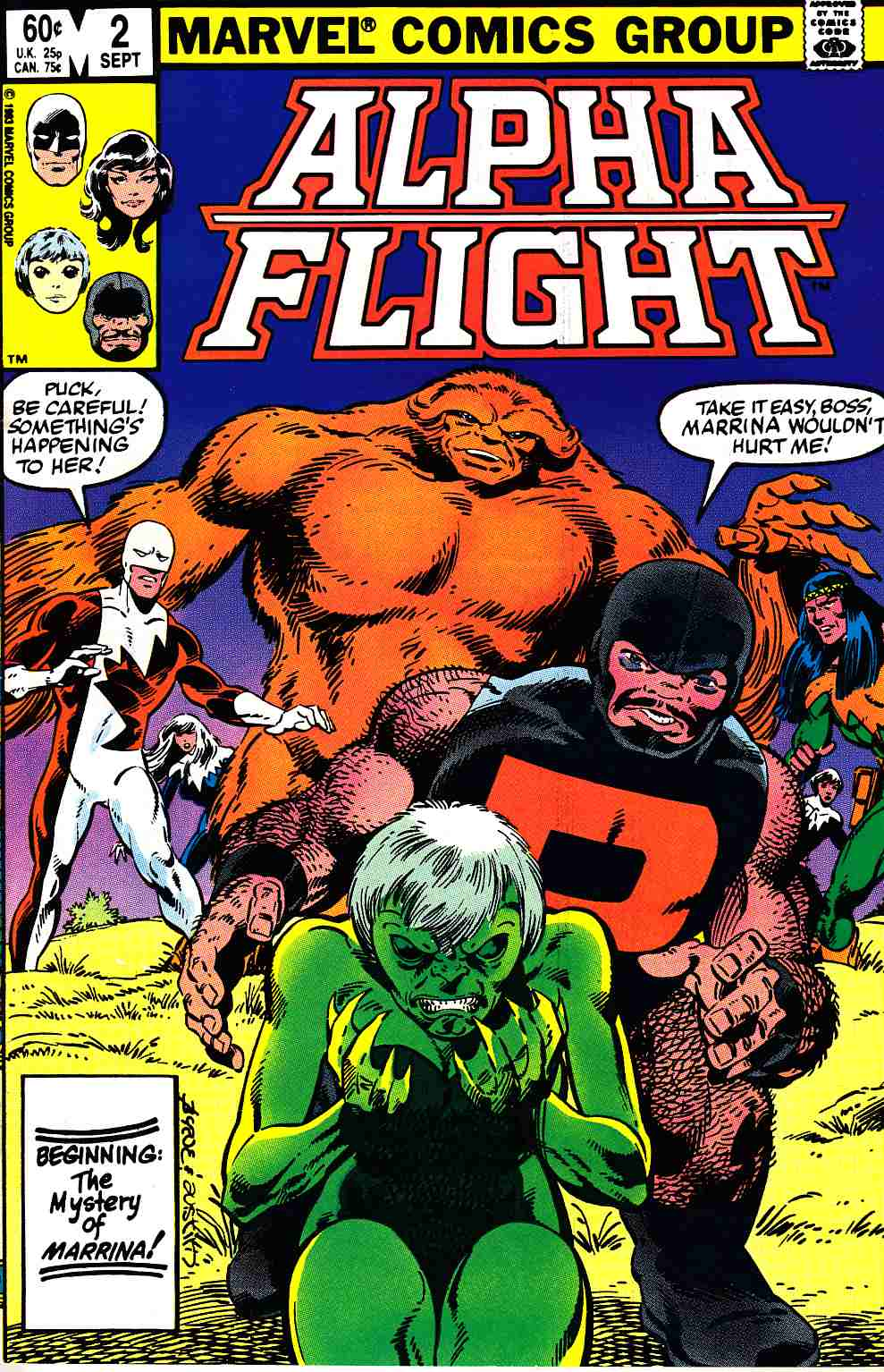 Alpha Flight #2 Near Mint (9.4) [Marvel Comic] THUMBNAIL