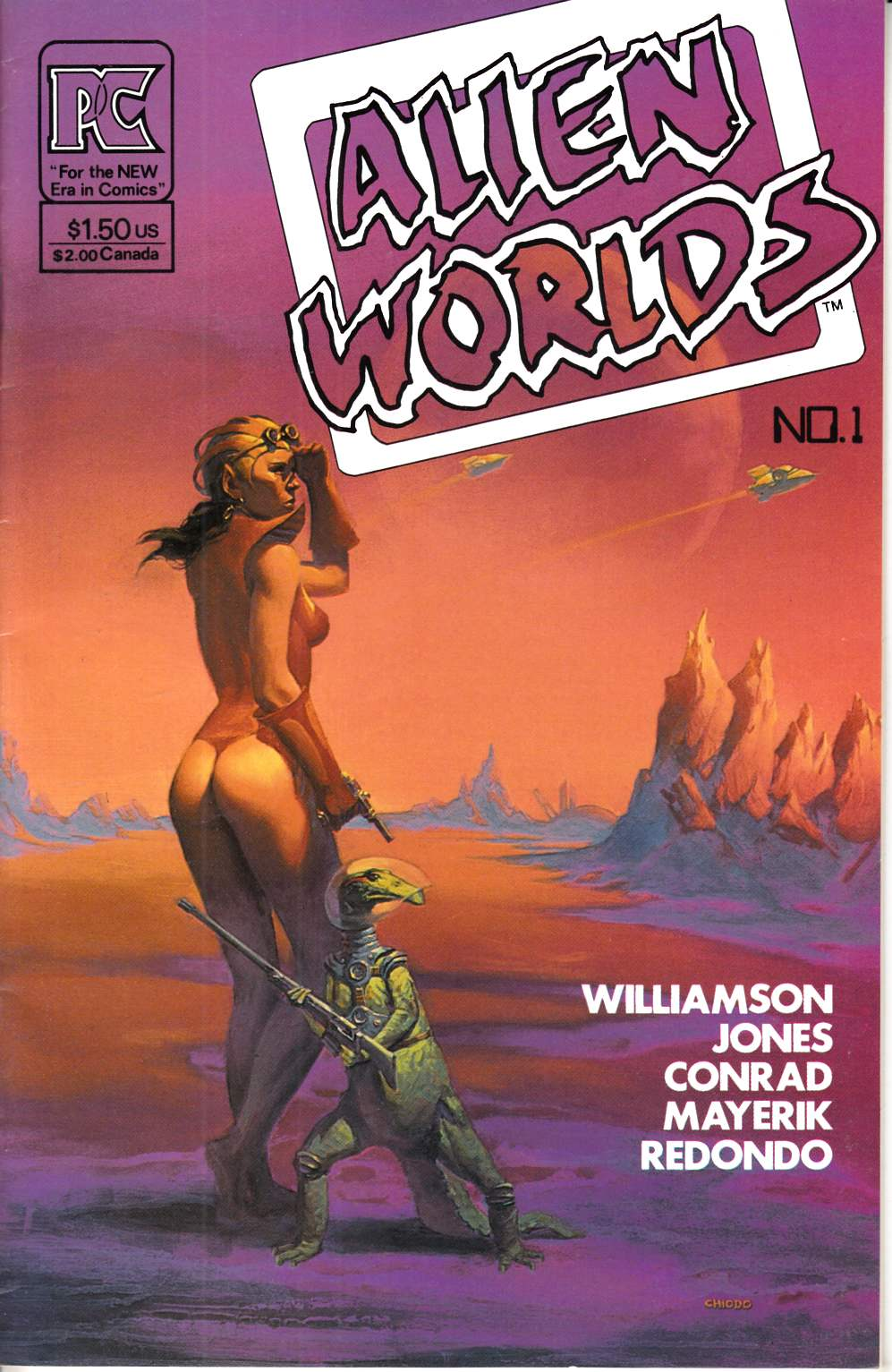 Alien Worlds #1 Fine/Very Fine (7.0) [Pacific Comic] THUMBNAIL