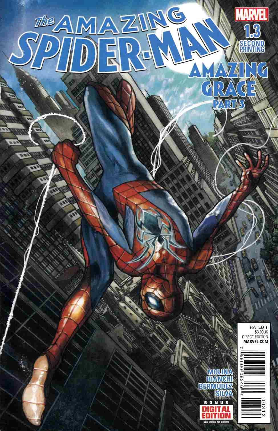Amazing Spider-Man #1.3 Second Printing [Marvel Comic] THUMBNAIL