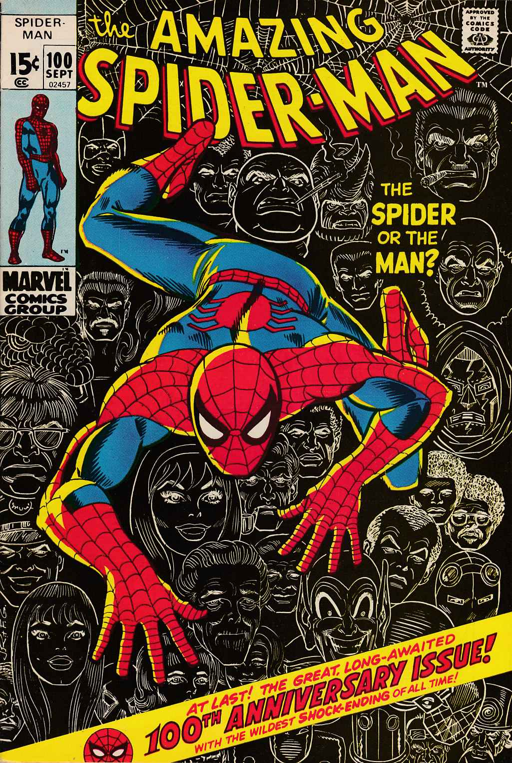 Amazing Spider-Man #100 Very Fine (8.0) [Marvel Comic] THUMBNAIL