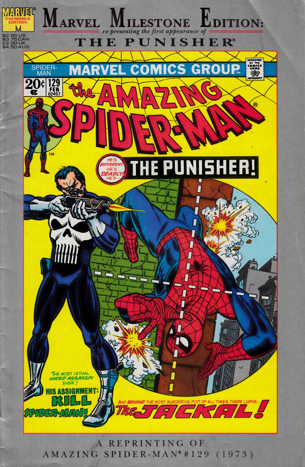 Amazing Spider-Man #129 Marvel Milestone Edition Very Good (4.0) [Marvel Comic]