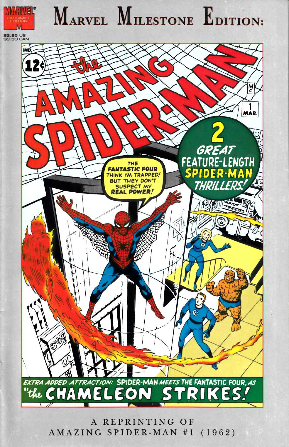 Amazing Spider-Man #1 Marvel Milestone Edition Very Fine Plus (8.5) [Marvel Comic]