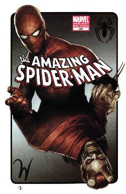 Amazing Spider-Man #595 Granov Variant Cover Near Mint (9.4) [Comic] LARGE