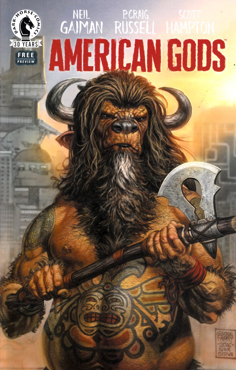 American Gods Preview Ashcan (One Shot) Near Mint Minus (9.2) [Dark Horse Comic] THUMBNAIL