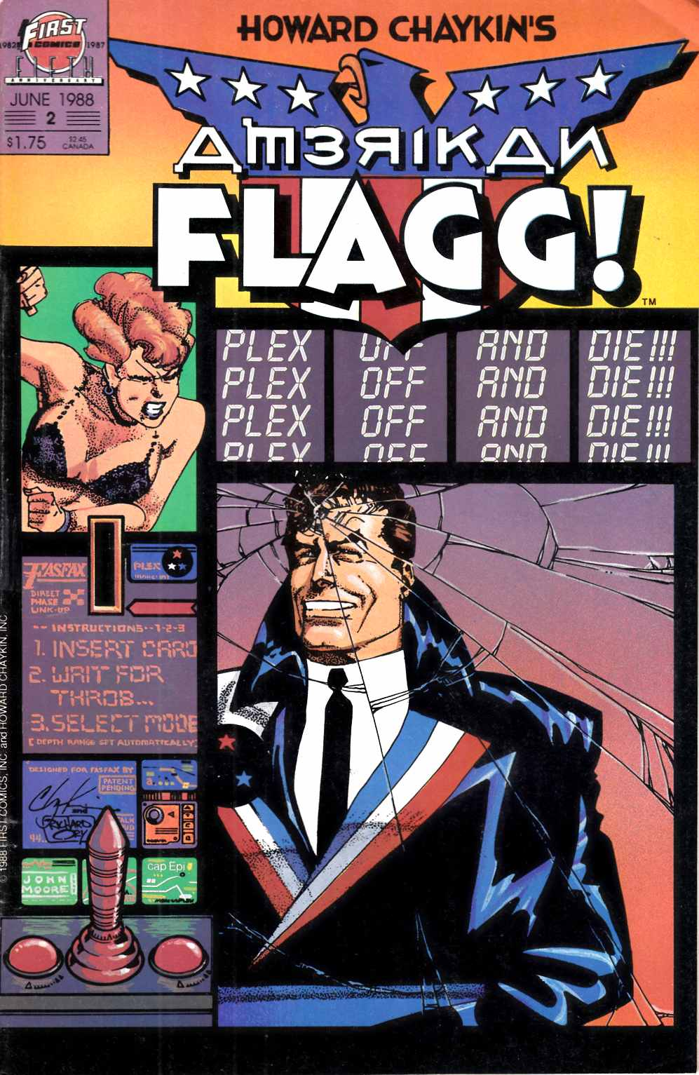 American Flagg #2 Fine (6.0) [First Comic] THUMBNAIL