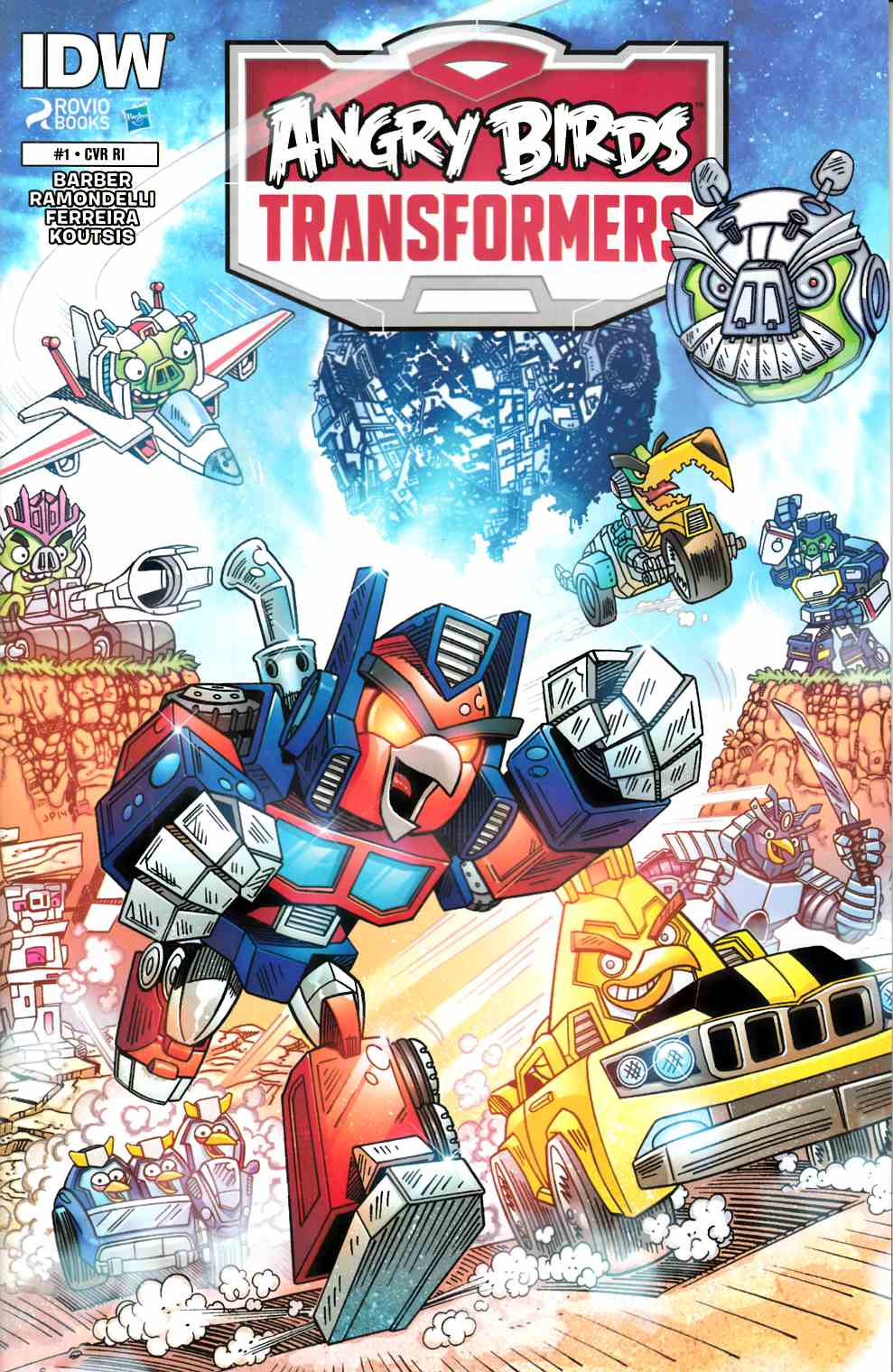 Angry Birds Transformers #1 Cover RI [IDW Comic]