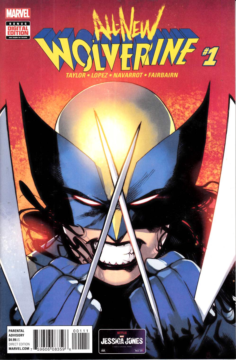All New Wolverine #1 Very Fine (8.0) [Marvel Comic] THUMBNAIL