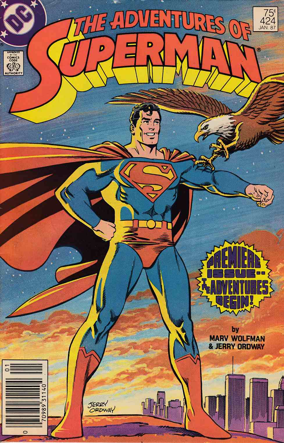 Adventures of Superman #424 Newsstand Edition Fine (6.0) [DC Comic]