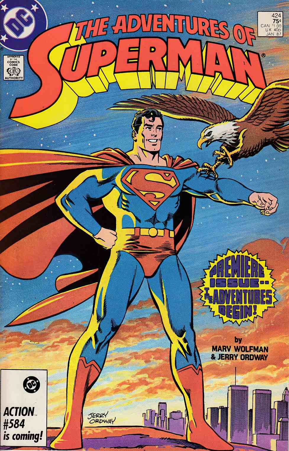 Adventures of Superman #424 Very Fine Minus (7.5) [DC Comic] THUMBNAIL