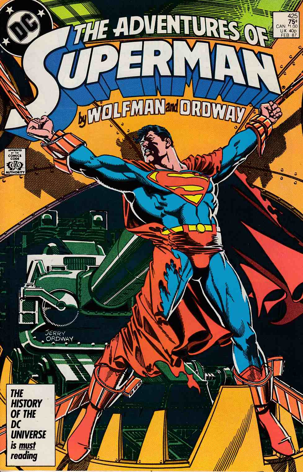 Adventures of Superman #425 Fine (6.0) [DC Comic]