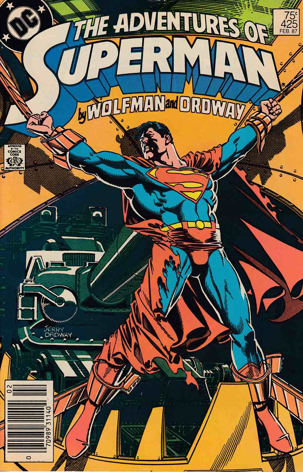Adventures of Superman #425 Newsstand Edition Fine (6.0) [DC Comic]