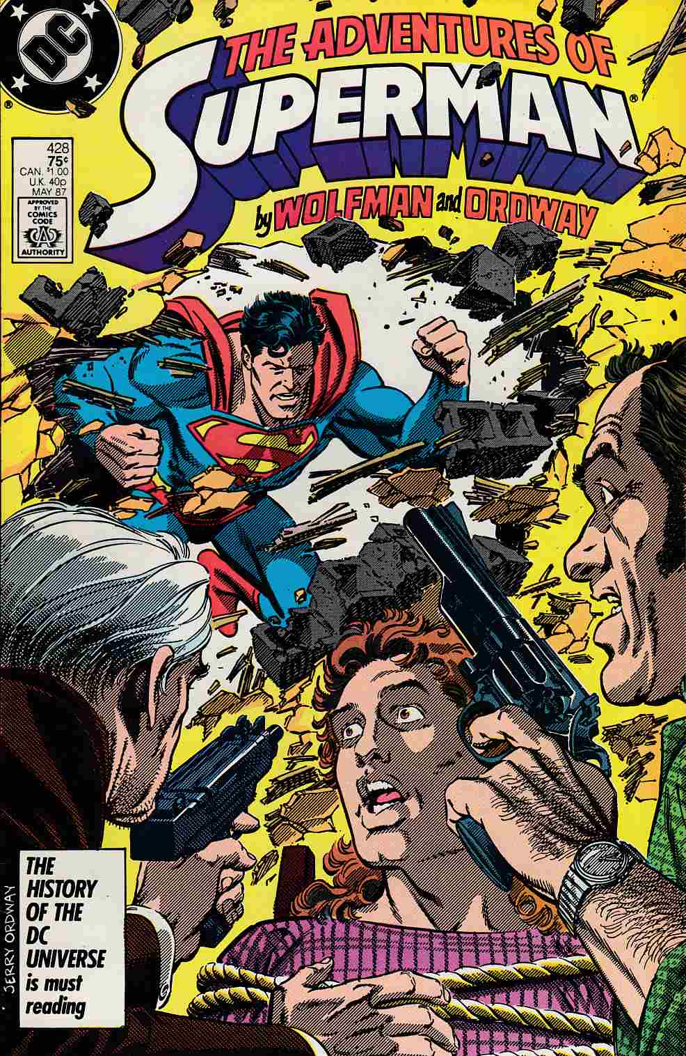 Adventures of Superman #428 Near Mint Minus (9.2) [DC Comic] THUMBNAIL