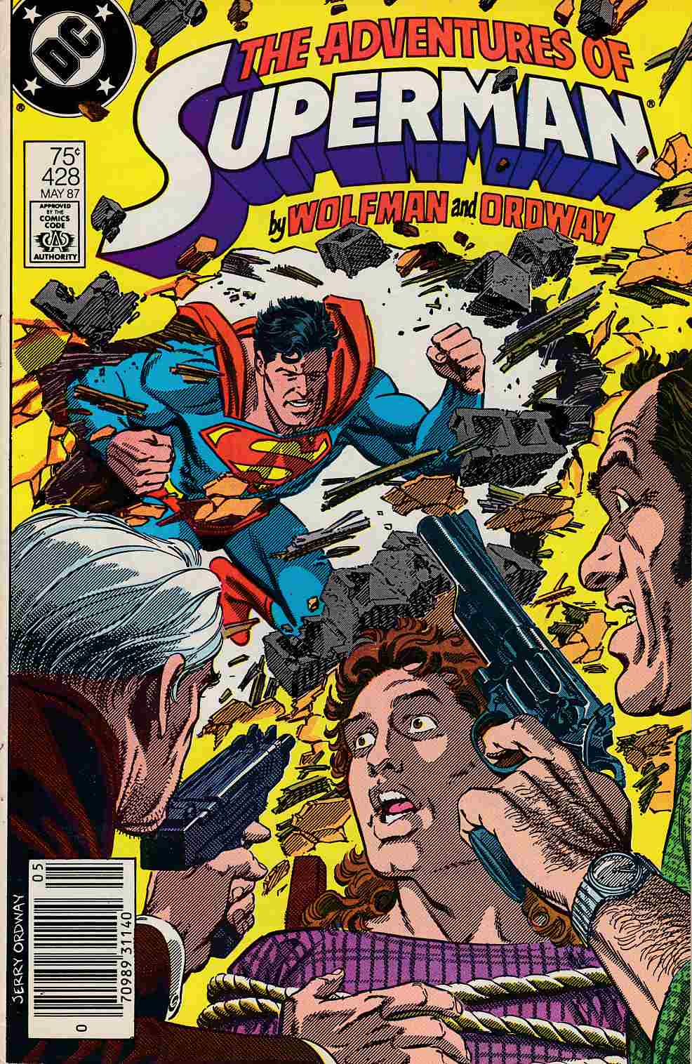 Adventures of Superman #428 Newsstand Edition Good/Very Good (3.0) [DC Comic] THUMBNAIL