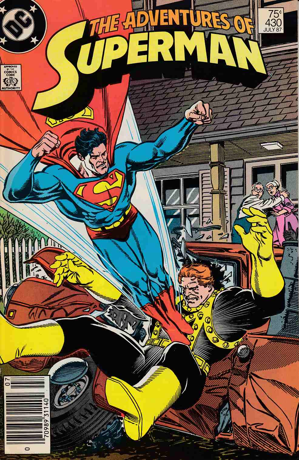Adventures of Superman #430 Newsstand Edition Fine (6.0) [DC Comic]