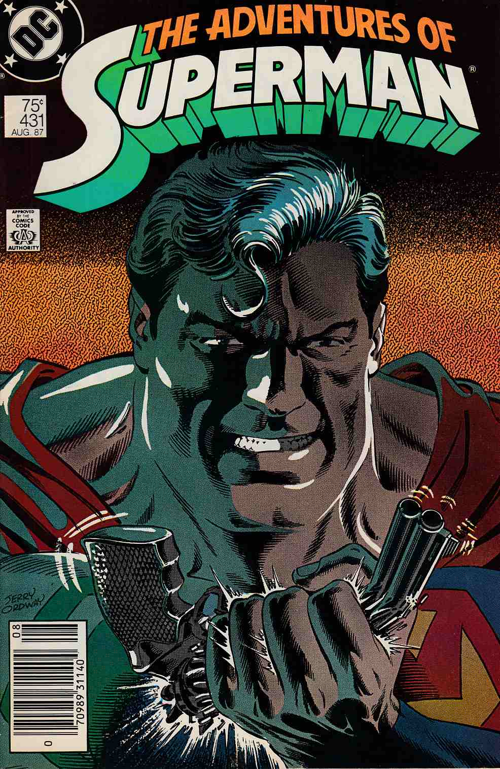 Adventures of Superman #431 Newsstand Edition Fine (6.0) [DC Comic]